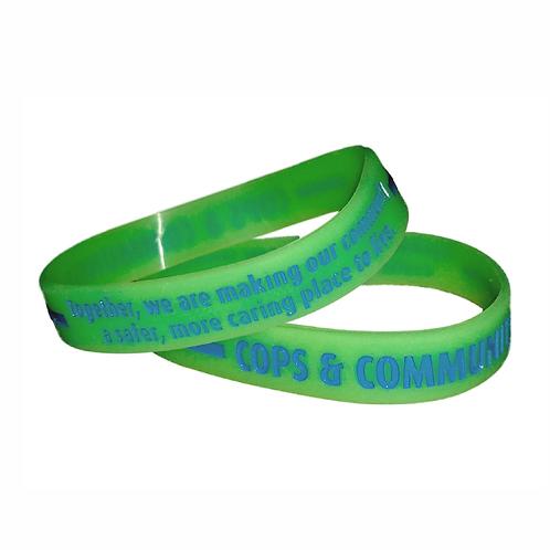 Cop & Community Glow In The Dark Silicone Bracelet
