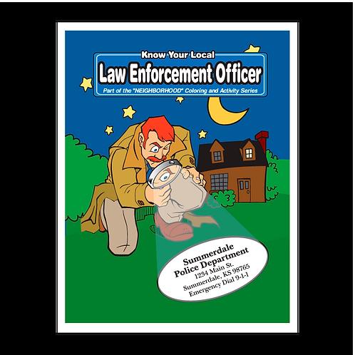 Law Enforcement Coloring Book
