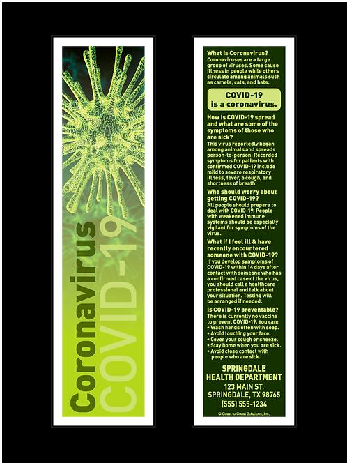 Coronavirus - COVID-19 Bookmark