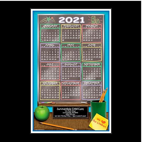 Daycare Chalkboard Wall Calendar