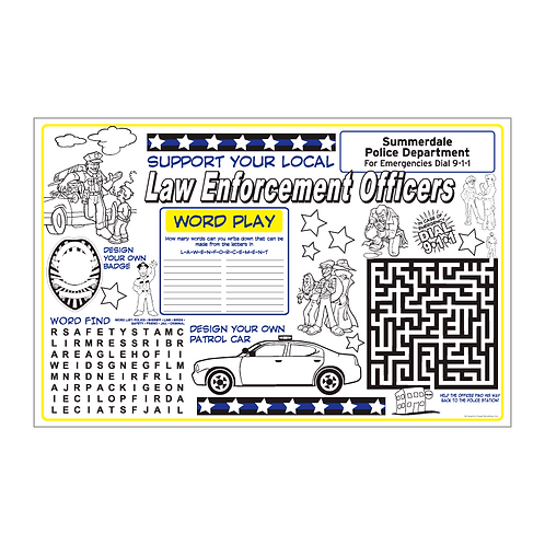 Police Department Activity Sheet