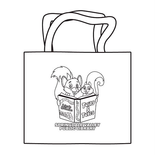 Tails & Tails Coloring Tote - Fox & Squirrel
