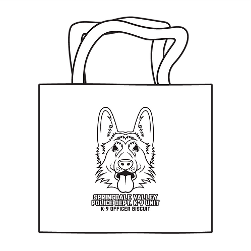 Law Enforcement K-9 Coloring Tote