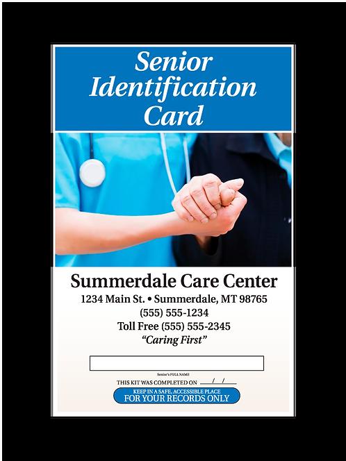 Senior Identification Card Front
