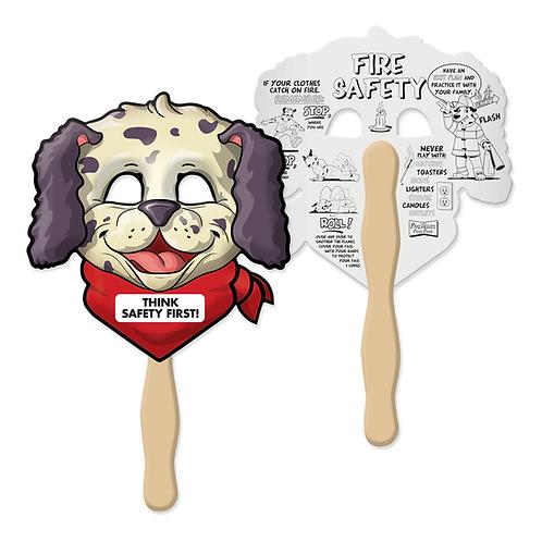 Fire Safety Fun Mask Face Fan