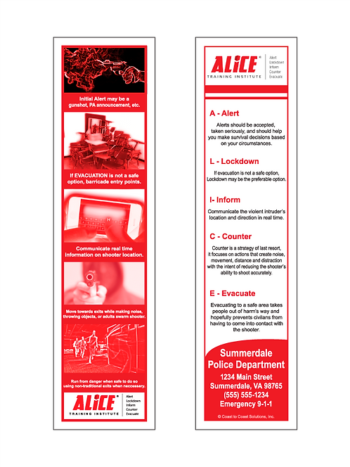 ALICE Bookmark