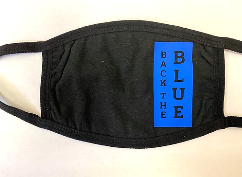 Back the Blue Block Cloth Mask