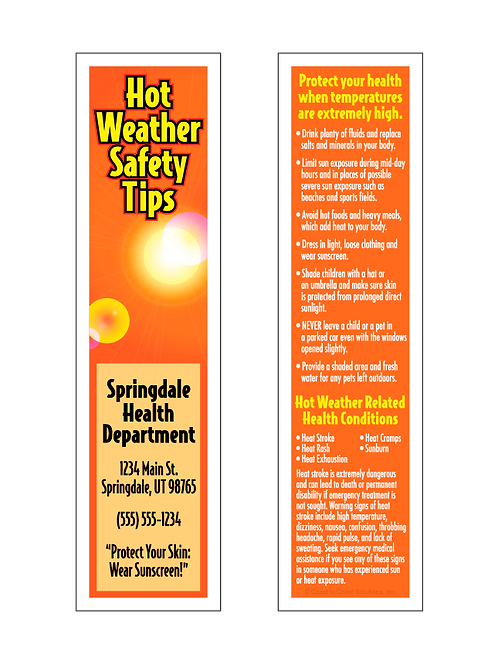 Hot Weather Bookmark