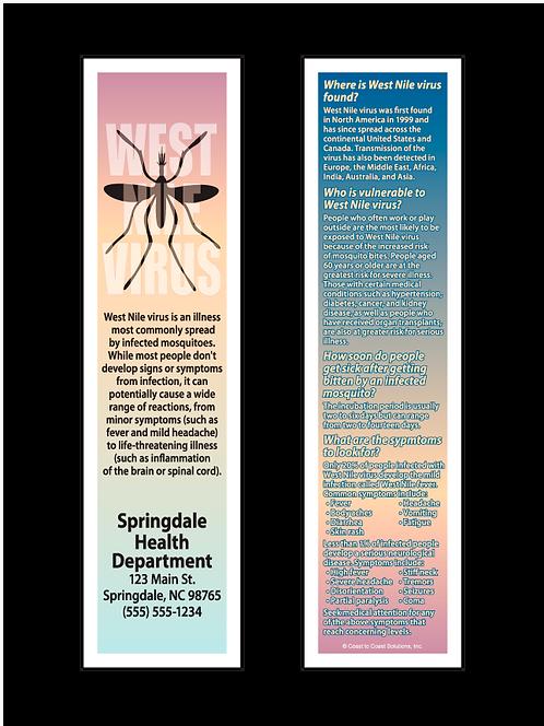 West Nile Virus Bookmark