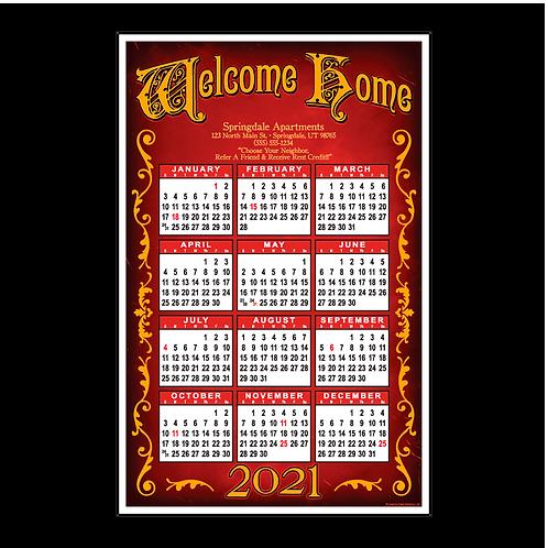 Signboard Retro Wall Calendar
