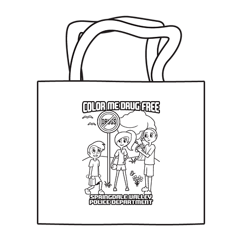Color Me Drug Free Coloring Tote