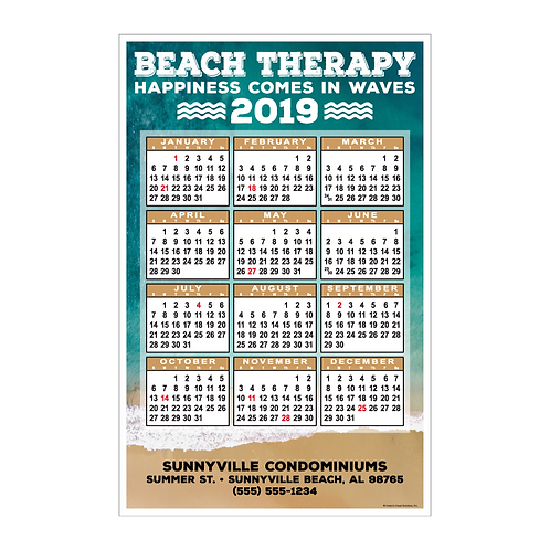 Beach Therapy Wall Calendar