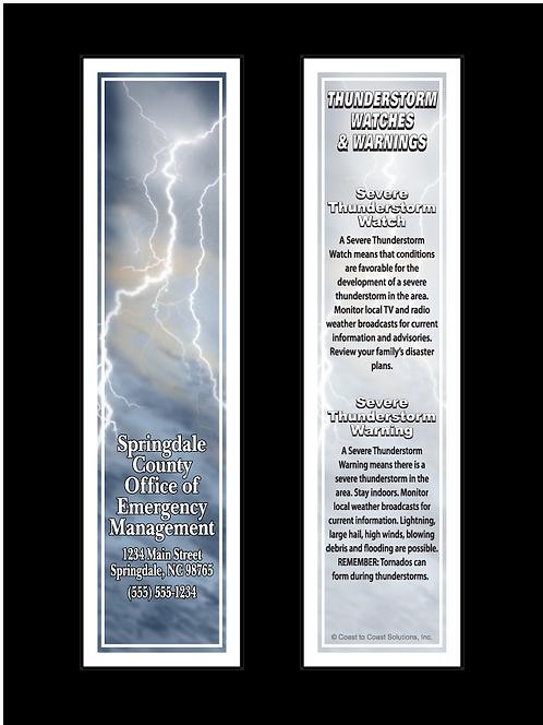 Thunderstorm Safety Bookmark