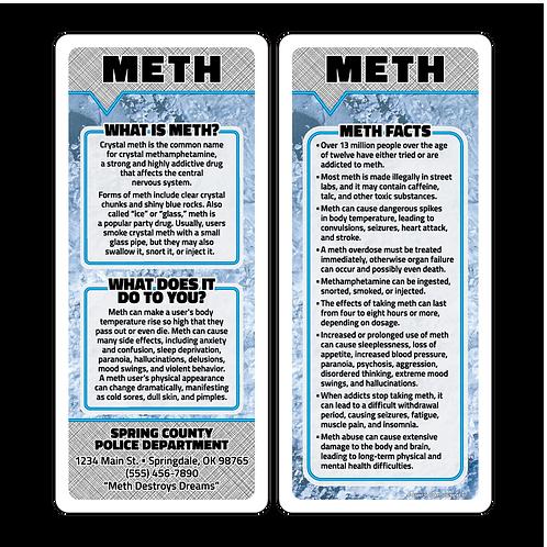 Meth Abuse Q&A Card