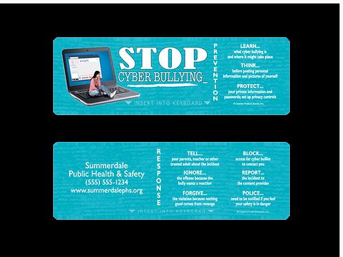 Cyberbullying Keyboard Card
