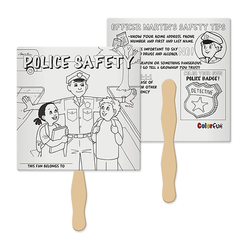 Police Safety Color Fun Fan
