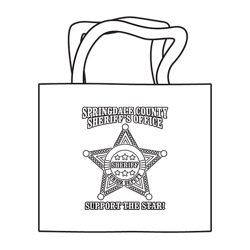 Sheriff 5pt Badge Coloring Tote