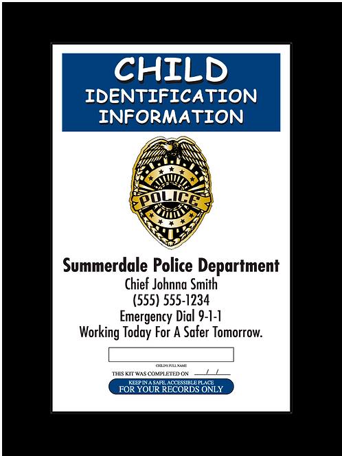 Police Fingerprint Card Front