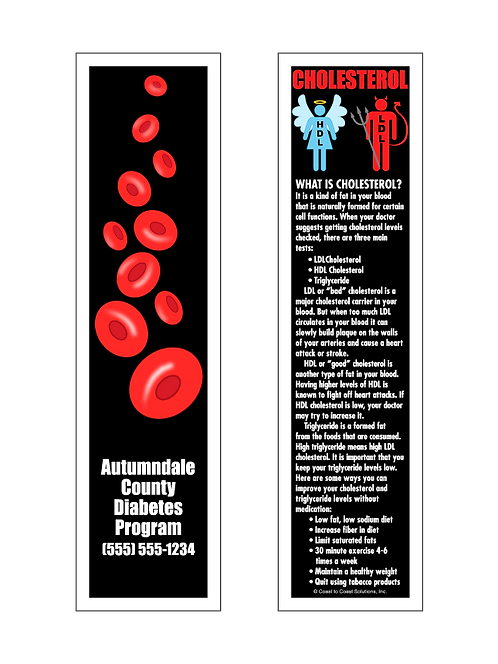 Facts About Cholesterol Bookmark