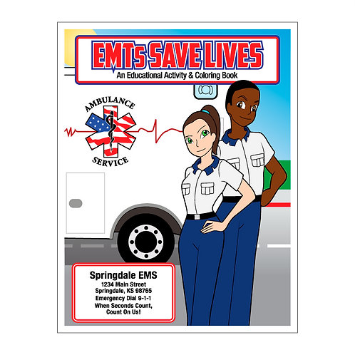 EMTs Save Lives Coloring Book