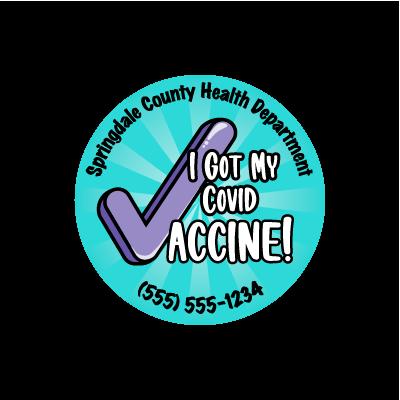 I Got My COVID Vaccine Sticker