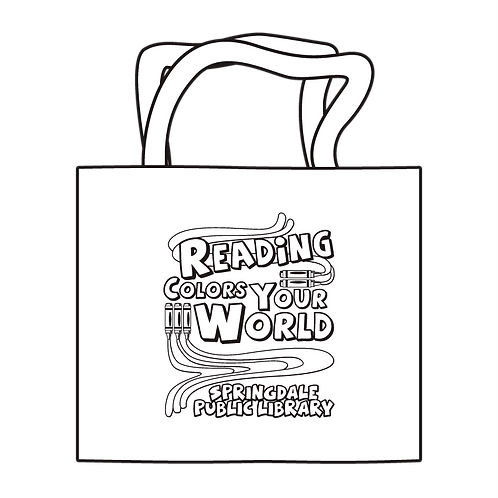Reading Colors Your World Coloring Tote