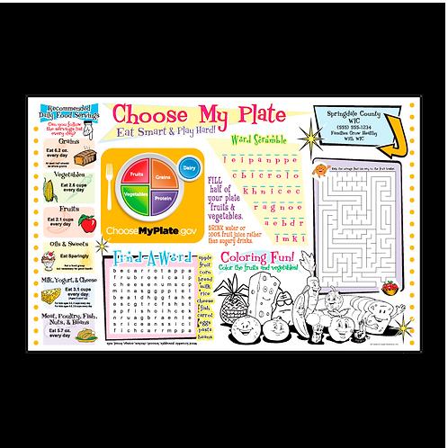 Choose My Plate Activity Sheet