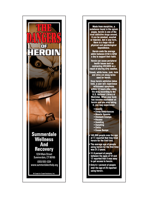 Dangers of Heroin Bookmark