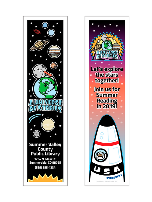 A Universe Of Stories - Summer Reading 2019 Bookmark