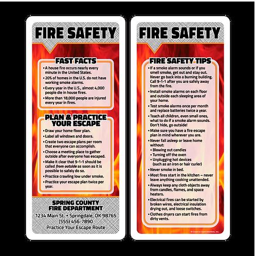 Fire Safety Q&A Card