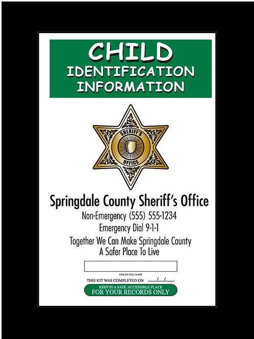 Sheriff 6pt Star Fingerprint Card Front