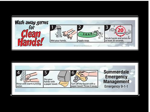 Clean Hands Bookmark