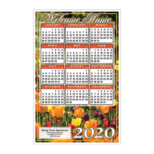 Welcome Home Spring Flowers Wall Calendar