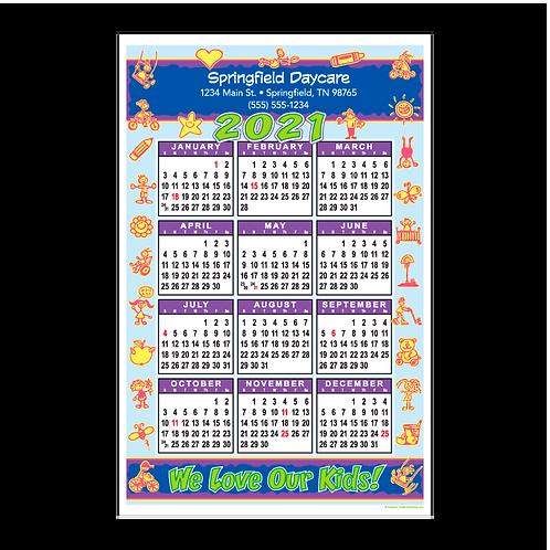 We Love Our Kids Wall Calendar