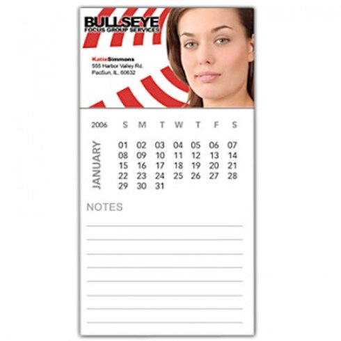 Business Card Magnet With Calendar