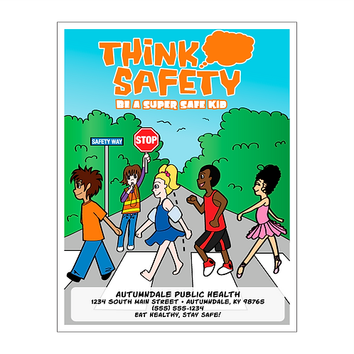Be A Safe Kid Coloring Book