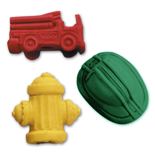 Fire Assorted Pencil Top Erasers
