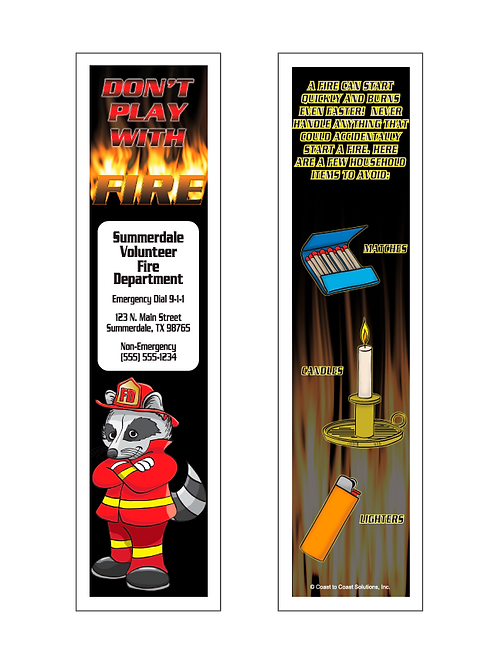 Ashes - Don't Play With Fire Bookmark