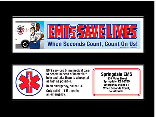 EMTs Save Lives Bookmark