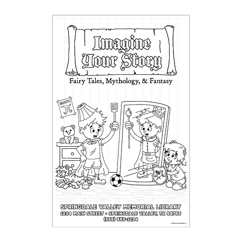 Imagine Your Story Coloring Poster