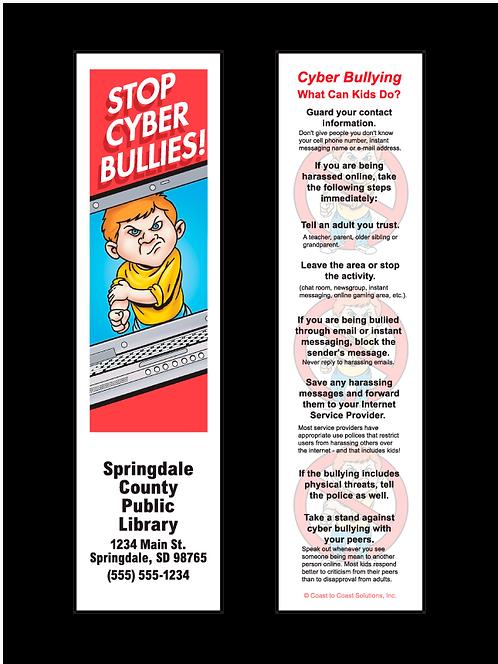 Stop Cyber Bullies Bookmark
