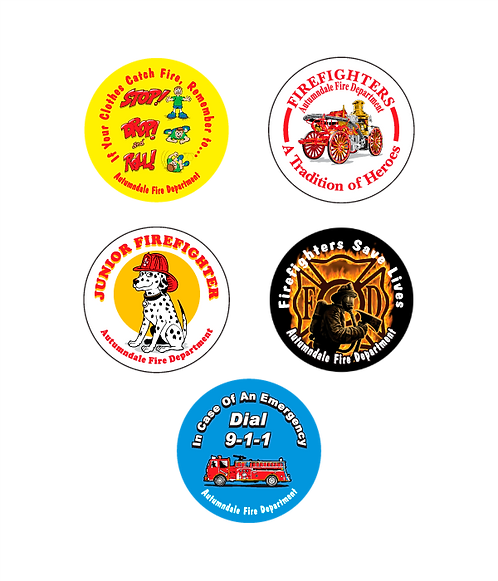 Fire Department Assorted Stickers