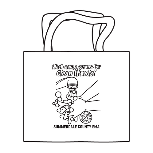 Clean Hands Coloring Tote