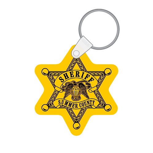 6pt Sheriff's Star Shaped Keytag