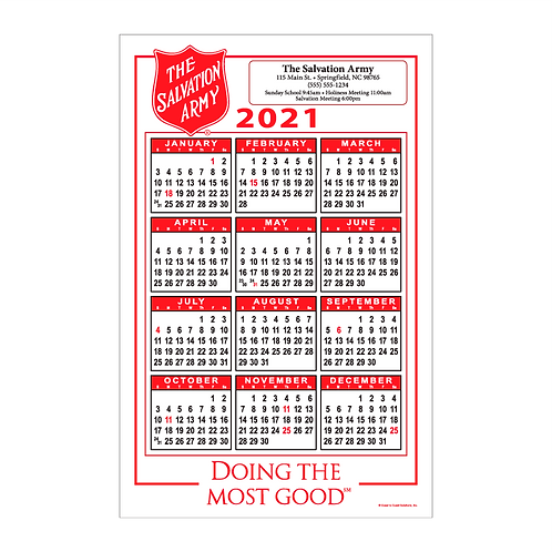 Salvation Army Wall Calendar