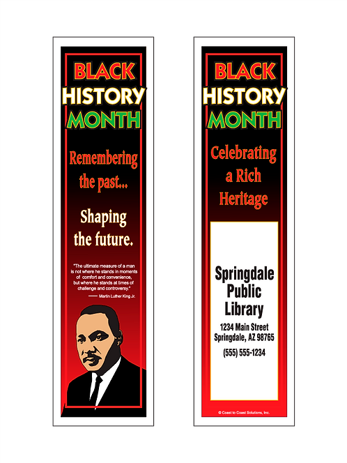 Martin Luther King, Jr. (Black History Month) Bookmark