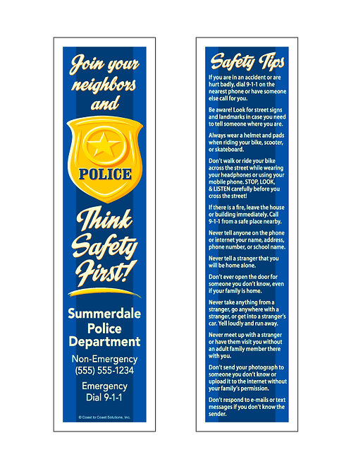 Police Department Bookmark