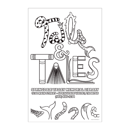 Tails & Tales Coloring Poster