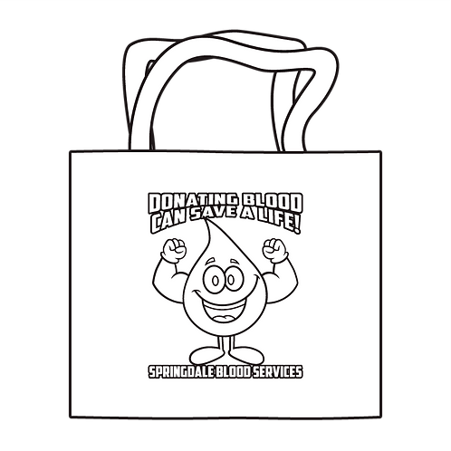 Donate Blood Coloring Tote