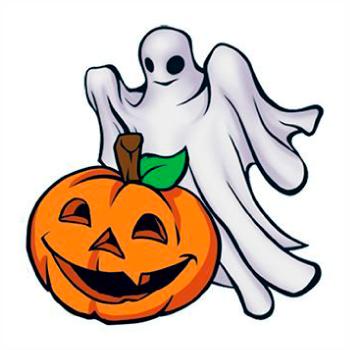 Jack-O-Lantern With Ghost Tattoo